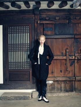 蒂尔达·斯文顿(Tilda Swinton)演绎韩国版《Vogue》时尚大片
