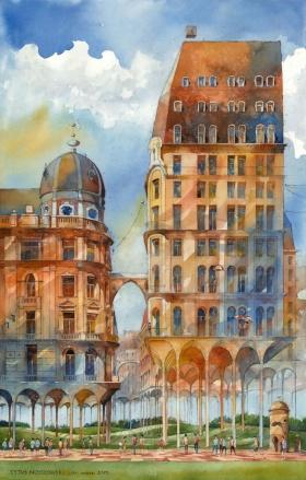 Tytus Brzozowski 绘画作品 | 抽象建筑