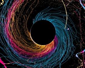 Fabian Oefner 色彩试验  | 黑洞