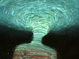 奥克兰艺术家BrendanMonroe的回旋绘画