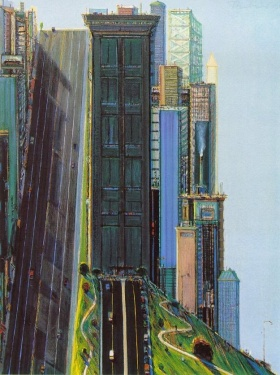 Wayne Thiebaud 超现实主义绘画  盗梦空间