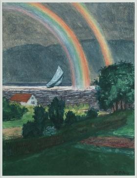 挪威画家 Nikolai Astrup艺术作品