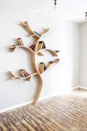 Dan Lee 创意书架设计|树