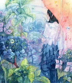 日本插画师Taupe Syuka的梦幻水彩世界