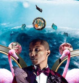 当代嘻哈艺人充满活力的数字拼贴画像 / Vibrantly collaged digital portraits of cont