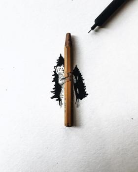 只有笔尖、拇指大小的绘画 / Christian Watson