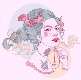 Liz Clements 人物插画