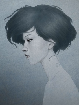 Diego Fernandez 细腻忧伤的人物插画作品