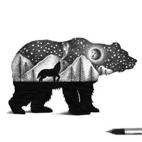 Thiago Bianchini 点阵动物插画