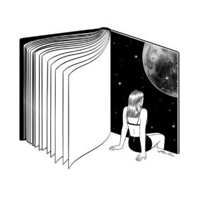 韩国艺术家Henn Kim黑白插画