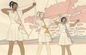 英国画家Harriet Lee Merrion个性简约的插画