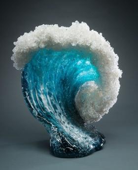 Marsha Blaker & Paul DeSomma 玻璃雕塑   海浪