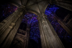 Miguel Chevalier装置艺术   教堂上的星空