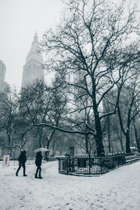 纽约,雪 |摄影师kosten