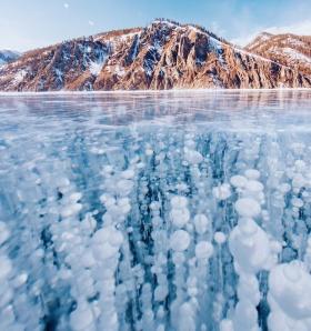 冰冻的贝加尔湖   摄影师Kristina Makeeva