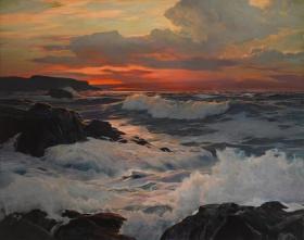 海浪  艺术家Frederick Judd Waugh