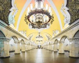 莫斯科地铁站 |摄影师David Burdeny