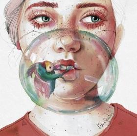 Ana Santos 肖像插画