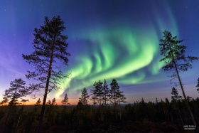 星夜,极光|摄影师Jani Ojala