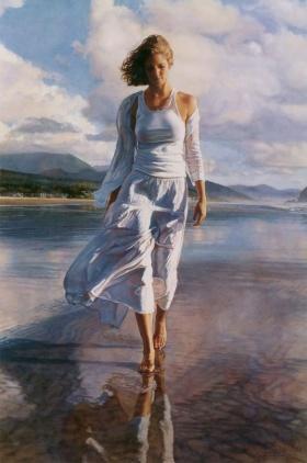 Steve Hanks ,美国现实主义水彩画家