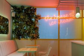 Soft Touch Ice Cream Shop Interior Design by Plasma Nodo