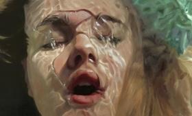 美国女画家Reisha Perlmutter 巨幅的肖像画 