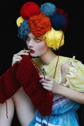 Ekaterina Belinskaya 时尚人像摄影作品【face game】