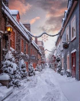 风雪中的城市 | Emmanuel Coveney 