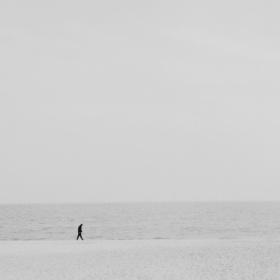 冬天與海灘與人