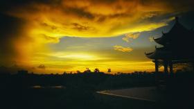 海师最美的日落