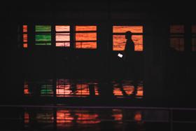 武汉江滩的黄昏