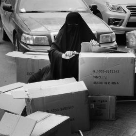 异国街头的女工
